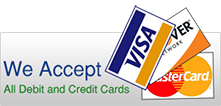 debit credit accepted